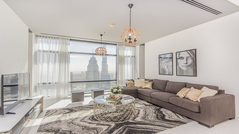 Elegant 1 Bedroom Apartment With Full Burj Khalifa/Fountain View In Index Tower DIFC