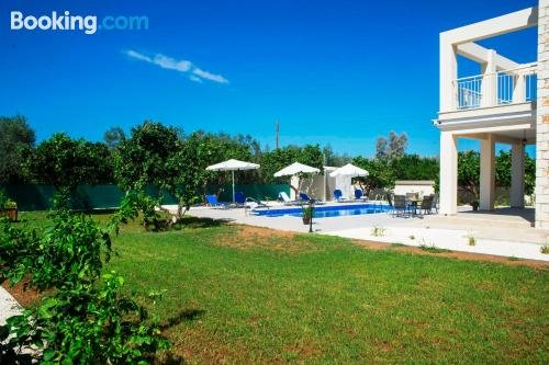 Stunning new BEACH FRONT villa 1st Line to the beach Large Pool Wonderful Area