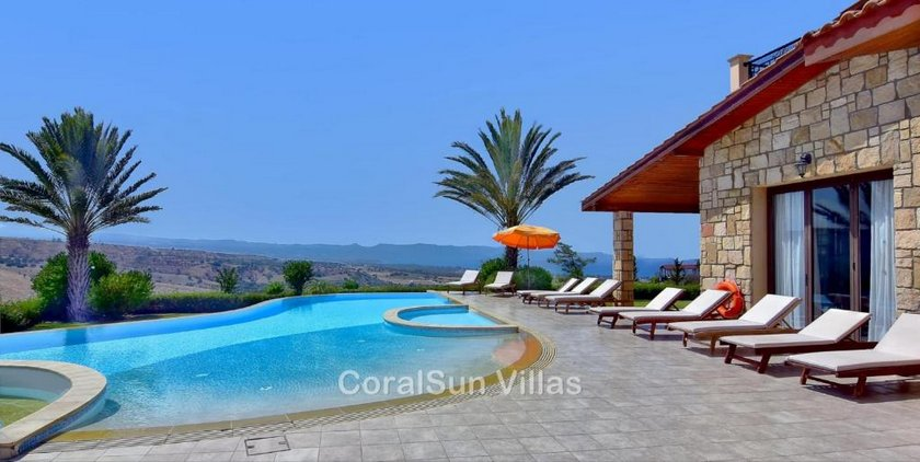 Amazing Luxury Villa In Paphos Extremely Large Pool Jacuzzi Gym Games Room